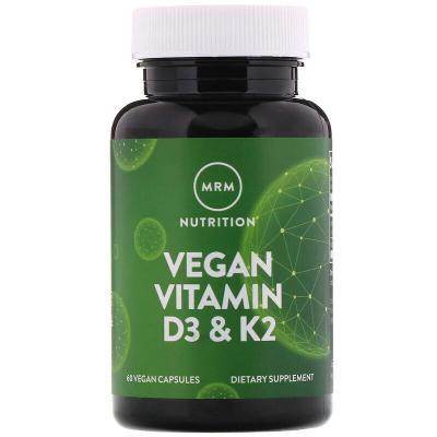 Витамины D3 и К2, MRM, 60 растительных капсул