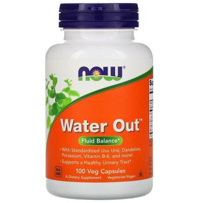 Водный баланс, Water Out, Now Foods, 100 растительных капсул