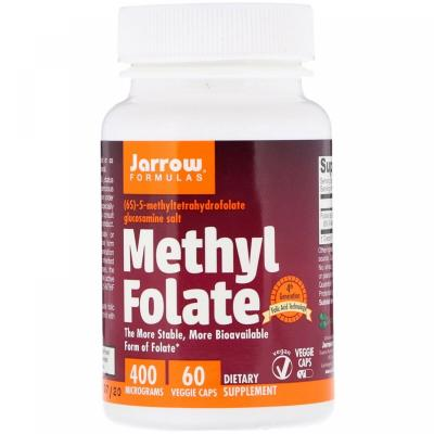 Метилфолат, Methyl Folate, Jarrow Formulas, 400 мкг, 60 капсул