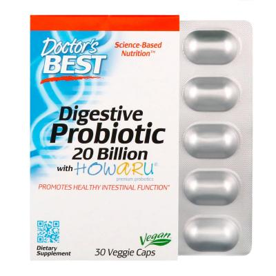Пробиотики, Probiotic, Doctor's Best, 20 млрд КОЕ, 30 капсул