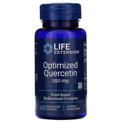 Оптимизированный кверцетин, Optimized Quercetin, Life Extension, 250 мг, 60 капсул