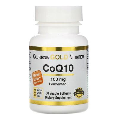 Коэнзим CoQ10, California Gold Nutrition, 100 мг, 30 капсул
