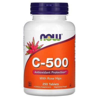 Витамин С с шиповником, C-500 RH, Now Foods, 500 мг, 250 таблеток