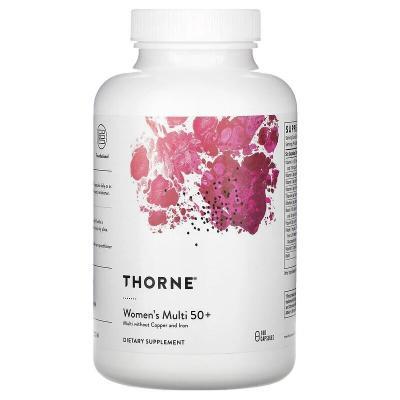 Витамины для женщин 50+, Women's Multi 50+, Thorne Research, 180 капсул