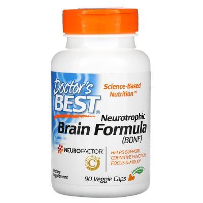 Формула для нейротрофического мозга, Neurotrophic Brain Fomrula, Doctor's Best, 90 вегетарианских капсул