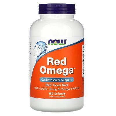 Красная омега, Red Omega, Now Foods, 180 капсул