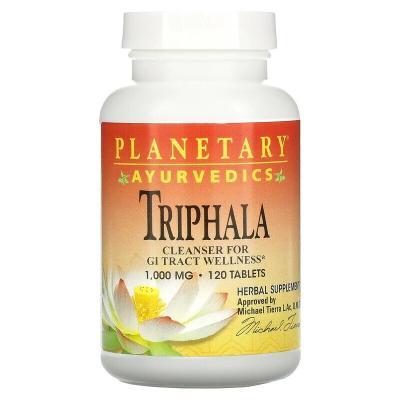 Трифала, Ayurvedics, Triphala, Planetary Herbals, 1000 мг, 120 таблеток