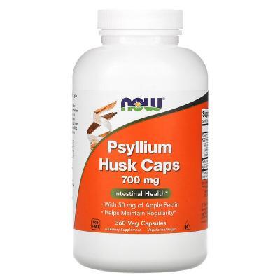 Оболочка семян подорожника в капсулах, Psyllium Husk Caps, Now Foods, 700 мг, 360 вегетарианских капсул
