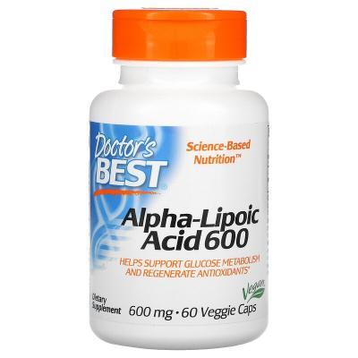 Альфа-Липоевая Кислота, Alpha-Lipoic Acid, Doctor's Best, 600 мг, 60 капсул