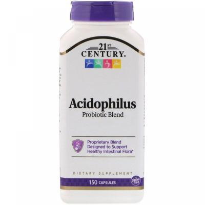 Пробиотики, Acidophilus Probiotic, 21st Century, 150 капсул