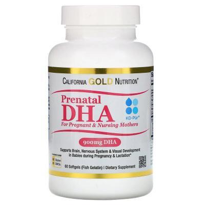 Пренатальная ДГК для беременных и кормящих матерей, California Gold Nutrition, 900 мг, 60 желатиновых капсул