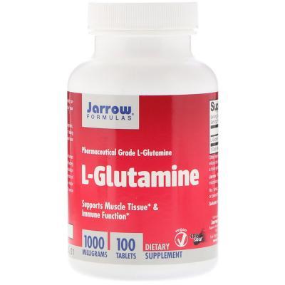 L-Глютамин, L-Glutamine, Jarrow Formulas, 1000 мг, 100 таблеток