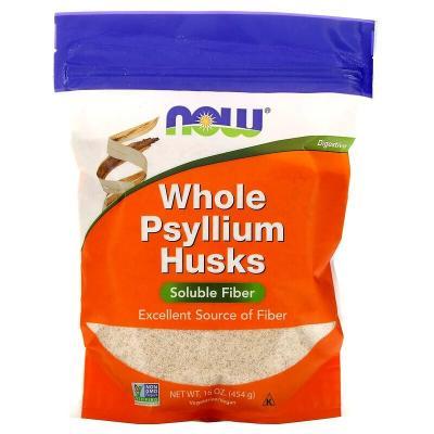 Цельная оболочка семян подорожника, Whole Psyllium Husks, Now Foods, 454 гр