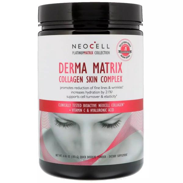 Коллаген для кожи (комплекс), Collagen Derma Matrix, Neocell, 183 г
