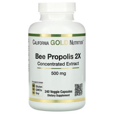 Пчелиный прополис 2Х, California Gold Nutrition, 500 мг, 240 капсул
