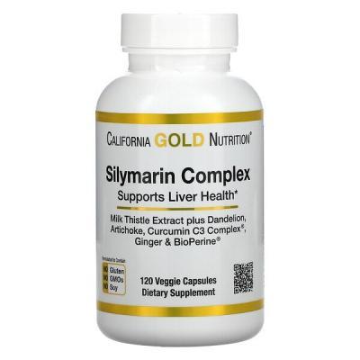 Силимарин (расторопша), California Gold Nutrition, 300 мг, 120 капсул