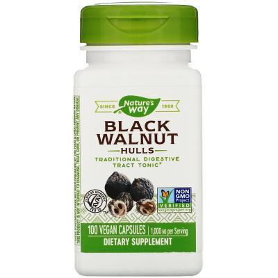 Черный орех, Black Walnut, Nature's Way, 500 мг, 100 капсул