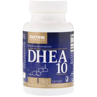 Дегидроэпиандростерон, DHEA 10, Jarrow Formulas, 10 мг, 90 капсул