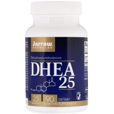 Дегидроэпиандростерон, DHEA 25, Jarrow Formulas, 25 мг, 90 капсул