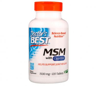 Метилсульфонилметан, МСМ, MSM, Doctor's Best, 1500 мг, 120 таблеток