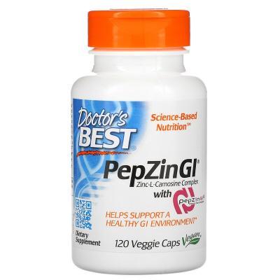 Цинк карнозин, Zinc-L-Carnosine, Doctor's Best, комплекс, 120 капсул