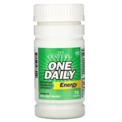 Ежедневная энергия, One Daily Energy, 21st Century, 75 таблеток