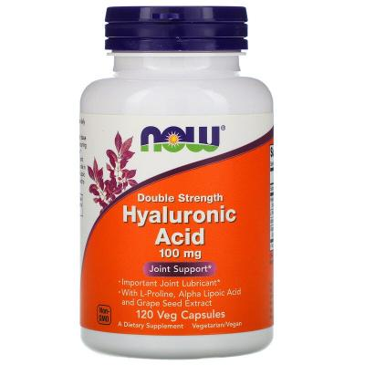 Гиалуроновая кислота, Hyaluronic Acid, Now Foods, 100 мг, 120 капсул