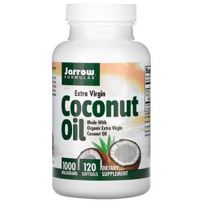 Кокосовое масло первого холодного отжима, Jarrow Formulas, 1000 мг, 120 мягких желатиновых капсул