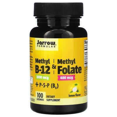 Метилфолат и метил B-12, Methyl B-12 & Methyl Folate, Jarrow Formulas, 1000 мкг/400 мкг, 100 леденцов