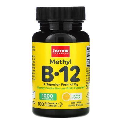 Метилкобаламин B-12 вкус лимона, Jarrow Formulas, 1000 мкг, 100 пастилок