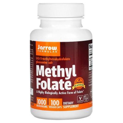 Метилфолат, Methyl Folate, Jarrow Formulas, 1000 мкг, 100 капсул