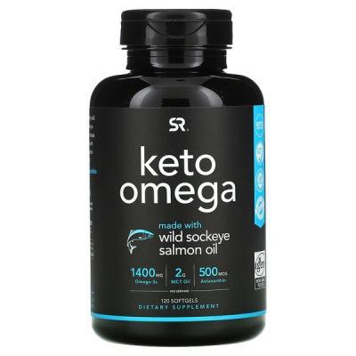Кето омега, Sports Research, 120 мягких таблеток