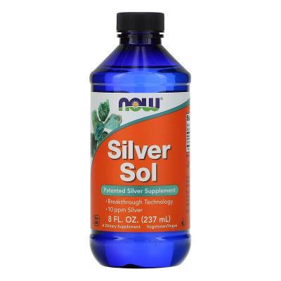 Коллоидное серебро, Silver Sol, Now Foods, 237 мл
