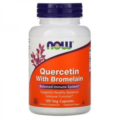 Now Foods, Quercetin with Bromelain, 120 Veg Capsules