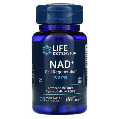 NAD + регенератор клеток, никотинамид рибозид, Life Extension, 100 мг, 30 вегетарианских капсул