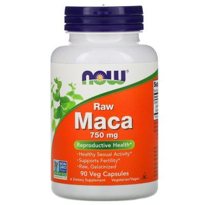 Мака, Maca, Now Foods, вегетарианская, 750 мг, 90 капсул