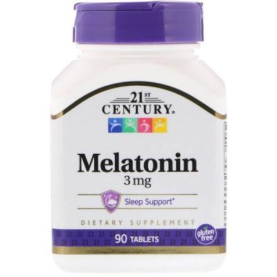 Мелатонин, Melatonin, 21st Century, 3 мг, 90 таблеток