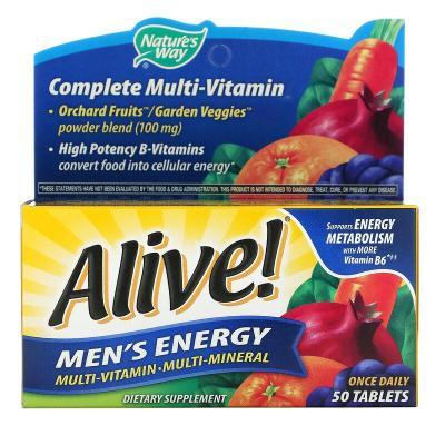 Мультивитамины для мужчин, Alive! Nature's Way, 50 таблеток