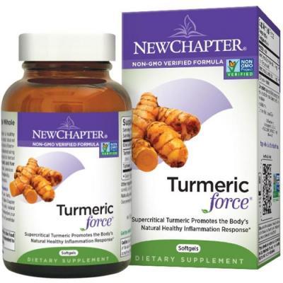 Куркумин, Turmeric Force, New Chapter, 60 гелевых капсул