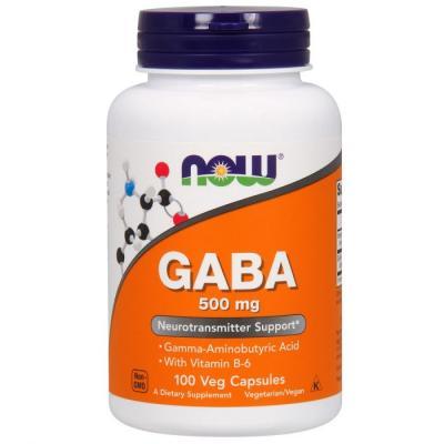 GABA (Гамма-Аминомасляная Кислота) 500 мг, Now Foods, 200 гелевых капсул