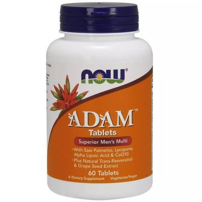 Витамины для мужчин, Adam Men's Multi, Now Foods, 60 капсул