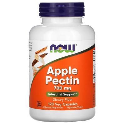 Яблочный пектин, Apple Pectin, Now Foods, 700 мг, 120 капсул