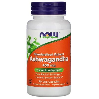 Ашвагандха, Ashwagandha, Now Foods, 450 мг, 90 капсул
