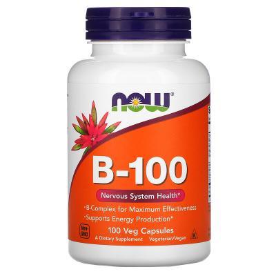 Витамин B-100, Now Foods, 100 веганских капсул