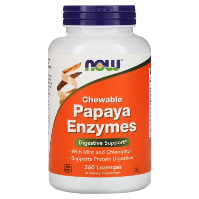 Папаин, Papaya Enzymes, Now Foods, 360 леденцов