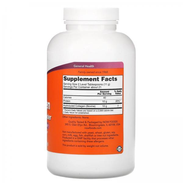 Пептиды коллагена, Collagen Peptides, Now Foods, порошок, 227 г