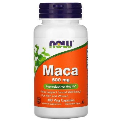 Мака, Maca, Now Foods, 500 мг, 100 капсул