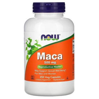 Мака, Maca, Now Foods, 500 мг, 250 капсул