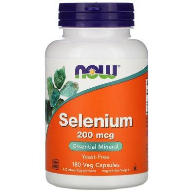Селен, Selenium, Now Foods, 200 мкг, 180 капсул