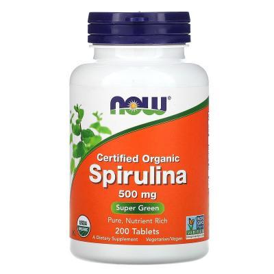 Спирулина 500 мг, Now Foods, 200 таблеток
